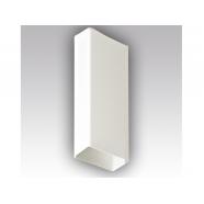 Воздуховод прямоугольный 60х204, L=1м ПВХ