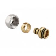 Зажимной резьбовой фитинг для металлопластиковых труб Meibes, «евроконус» 20х2.0х3/4 ВР