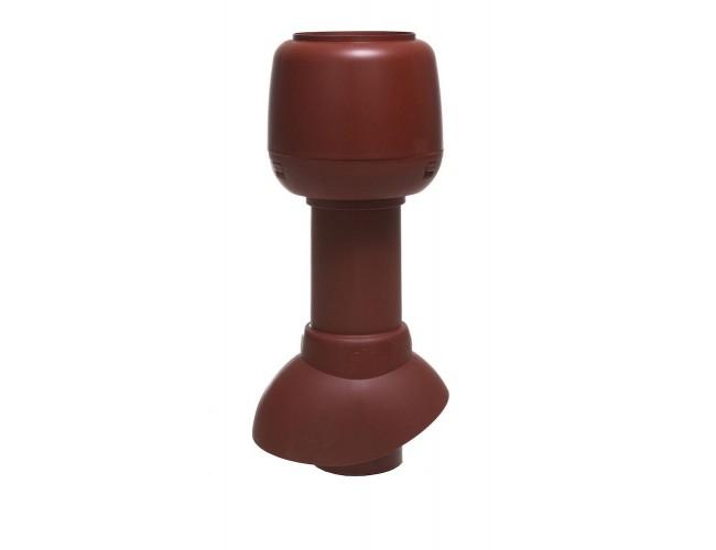 Vilpe 110/300/Н вентиляционный выход+колпак (красный)