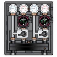 Дополнительный контур загрузки бойлера UK ГВС для Kombimix UPS 15-50, Meibes