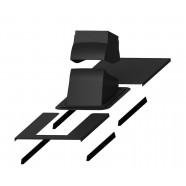 Vilpe PIIPPU MODULAR проходной элемент + окантовка (черный)