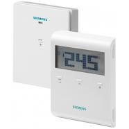 Комнатный термостат беспроводной с авто-таймером RDE100.1RF и RDE100.1RFS, Siemens (комплект)
