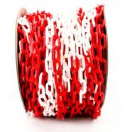 Цепной барьер Цепь пластиковая красно-белая 8мм