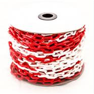 Цепной барьер Цепь пластиковая красно-белая 6мм