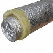 Воздуховод гибкий особопрочный теплоизолированный алюминиевый ИЗО А2(Нard)  160х10м